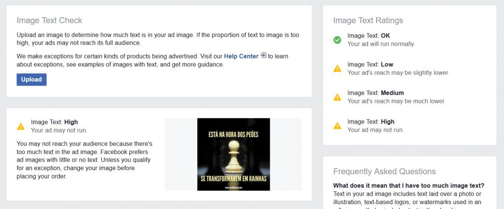 Exemplo de imagem não aprovada pelo Facebook (icon amarelo)
